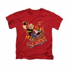 Popeye Shirt Get Air Kids Red Youth Tee T-Shirt