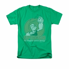 Popeye Shirt Green Energy Adult Kelly Green Tee T-Shirt
