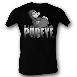 Popeye Shirt In His Hoodie Black T-Shirt
