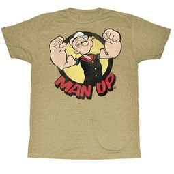 Popeye Shirt Man Up Sand T-Shirt