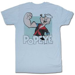 Popeye Shirt Old Photo Light Blue T-Shirt