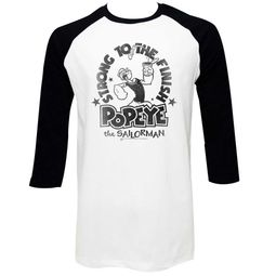 Popeye Shirt Raglan Strong To The Finish White/Black Shirt