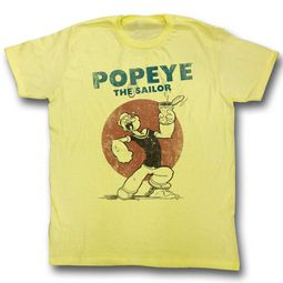 Popeye Shirt Red Sun Yellow T-Shirt