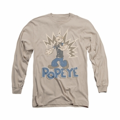 Popeye Shirt Sailor Man Long Sleeve Sand Tee T-Shirt
