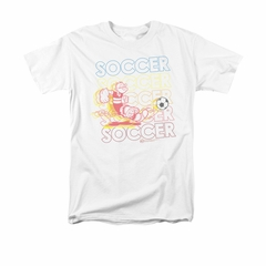 Popeye Shirt Soccer Adult White Tee T-Shirt