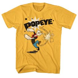 Popeye Shirt Swinging Gold T-Shirt