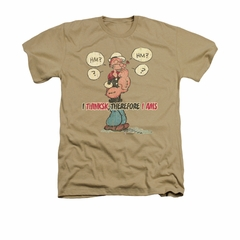 Popeye Shirt The Thinkster Adult Heather Sand Tee T-Shirt