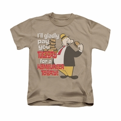 Popeye Shirt Tuesday Kids Sand Youth Tee T-Shirt