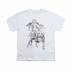 Popeye Shirt Walking The Dog Kids White Youth Tee T-Shirt