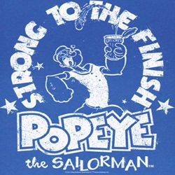 Popeye Shirt Whiteness Adult Royal T-Shirt Tee