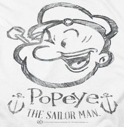 Popeye Sketch Portrait Shirts