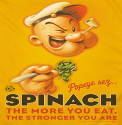 Popeye Spinach Retro Shirts