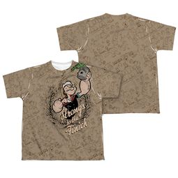 Popeye Strongs To The Finch Sublimation Kids Shirt Front/Back Print