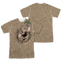 Popeye Strongs To The Finch Sublimation Shirt Front/Back Print