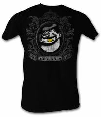 Popeye T-shirt Bluto Brutus Gold Adult Black Tee Shirt