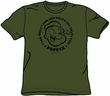 Popeye T-shirt Cartoon Character I Yam Adult Army Green Tee