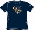 Popeye T-shirt Cartoon Hero Popeye Sk8 Adult Navy Blue Tee