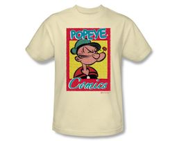 Popeye T-shirt Cartoon Popeye Comics Cream Adult Tee