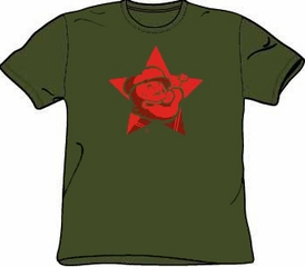 Popeye T-shirt Cartoon Red Star Classic Adult Tee