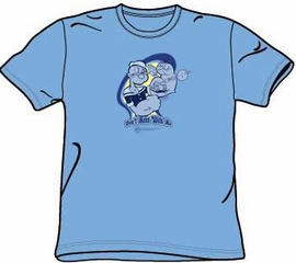 Popeye t-shirt Don't Mess With Me Classic Cartoon Blue Tee