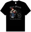 Popeye T-shirt Pure Muscle Biker Adult Black Tee