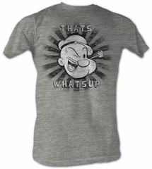 Popeye T shirt Thats Whats Up Adult Grey Heather Tee Shirt