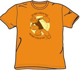 Popeye T-shirt You Want A Piece Of This? Adult Orange Tee