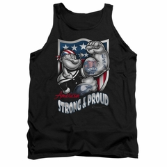 Popeye Tank Top Strong & Proud Black Tanktop