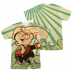 Popeye Traveling Man Sublimation Shirt Front/Back Print