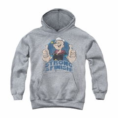 Popeye Youth Hoodie To The Finish Athletic Heather Kids Hoody
