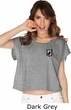 Pow Mia Patch Pocket Print Ladies Boxy Tee
