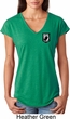 Pow Mia Patch Pocket Print Ladies Tri Blend V-neck