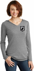 Pow Mia Patch Pocket Print Ladies Tri Hoodie