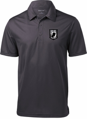 Pow Mia Patch Pocket Print Mens Textured Polo