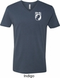 Pow Mia Pocket Print V-neck Shirt