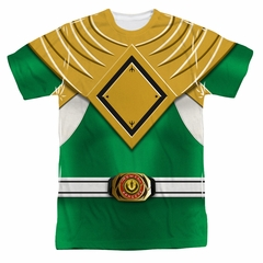 Power Ranger Shirt Green Ranger Costume Sublimation Shirt