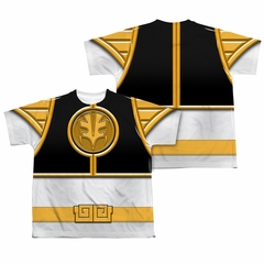Power Ranger Shirt White Ranger Costume Sublimation Youth Shirt
