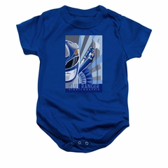 Power Rangers Baby Romper Blue Ranger Blue Infant Babies Creeper