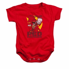 Power Rangers Baby Romper Go Red Red Infant Babies Creeper