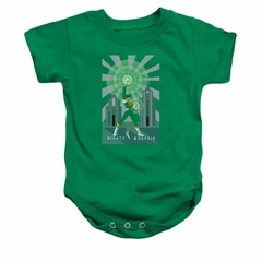 Power Rangers Baby Romper Green Ranger Green Infant Babies Creeper