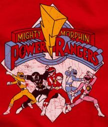 Power Rangers Distressed Logo Shirts
