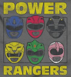 Power Rangers Heads Shirts