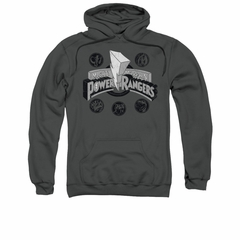 Power Rangers Hoodie Power Coins Charcoal Sweatshirt Hoody