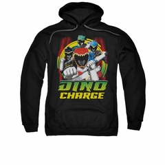 Power Rangers Hoodie Red Lightning Black Sweatshirt Hoody