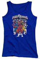 Power Rangers Ninja Steel Juniors Tank Top Team Royal Blue Tanktop