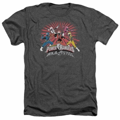 Power Rangers Ninja Steel Shirt Blast Heather Charcoal T-Shirt