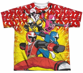 Power Rangers Ninja Steel Shirt GO GO Sublimation Youth Shirt
