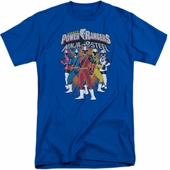 Power Rangers Ninja Steel Shirt Team Royal Blue Tall T-Shirt