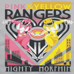 Power Rangers Pink And Yellow Ranger Shirts