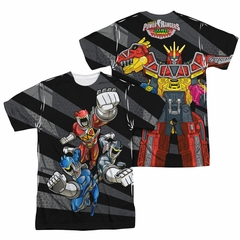 Power Rangers Shirt Flying Punches Sublimation Shirt Front/Back Print